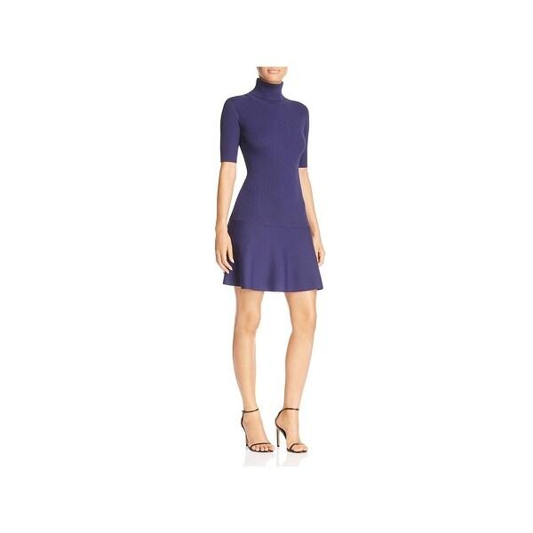 32efee8afa2 Shop MICHAEL Michael Kors Womens Sweaterdress Turtleneck Mini - Free ...