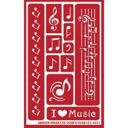 "Musical Notes - Over 'N' Over Reusable Stencils 5""X8"""