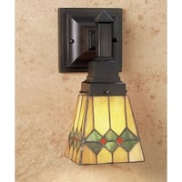 """Meyda Tiffany 48189 Martini Mission 7"""" Wide 1-Light Wall Sconce with Stained Glass Shade - tiffany glass - n/a"""