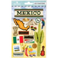 """Travel Mexico - Paper House 2-D Stickers 7.5""""X4.5"""""""