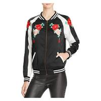Aqua Capsule Womens Bomber Jacket Embroidered Striped