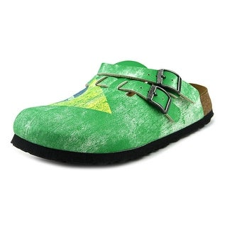 Birki's Kay Women N/S Round Toe Synthetic Green Clogs