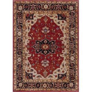 Surya SRP1002-5373 Serapi 5' x 7' Rectangle Synthetic Power Loomed Traditional A - Red