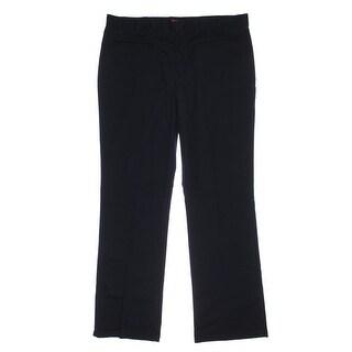 Dickies Womens Juniors Twill Flare Leg Chino Pants - 0