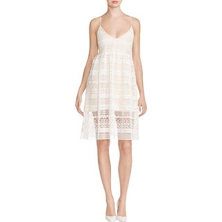 Little White Lies Womens Impala Babydoll Dress Lace Lace Up Back