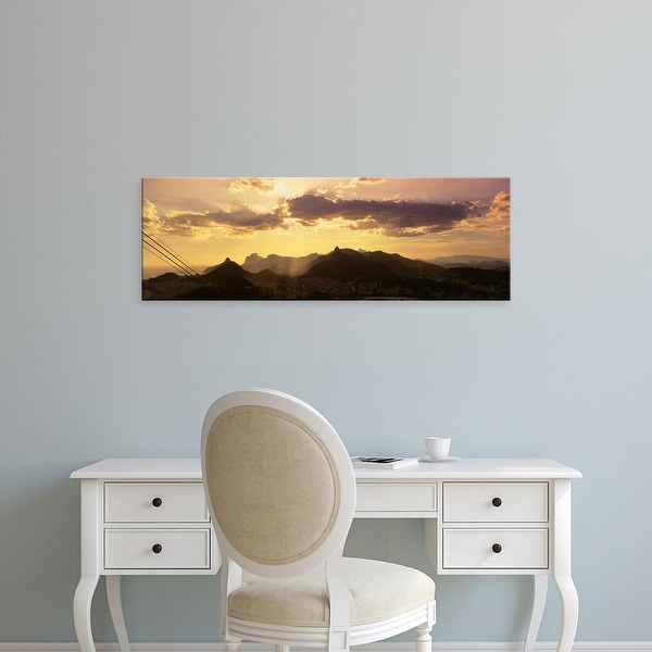 Easy Art Prints Panoramic Images's 'View from Sugarloaf of buildings in a city, Rio De Janeiro, Brazil' Canvas Art
