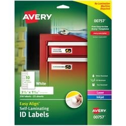 "1""X3.5"" 50/Pkg - Easy Align Self-Laminating Id Labels"