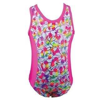 Reflectionz Big Girls Multi Color Spot Pattern Oval Tank Leotard 8-10