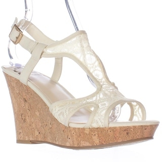 Fergalicious Kailyn Wedge Sandals - Cream