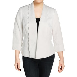 Kasper Womens Plus Jacket Jacquard Circle - 16W