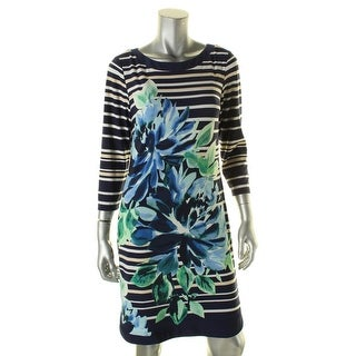 Vince Camuto Womens Casual Dress Striped Floral Print