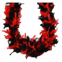 """Set of 3 Black and Red Boa Costume Accessory - One Size Fits Most 72"""""""