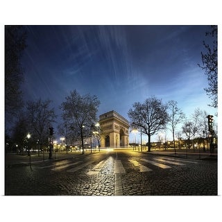 """Arc de Triomphe at place Charles-de-Gaulle-Etoile in Paris."" Poster Print"