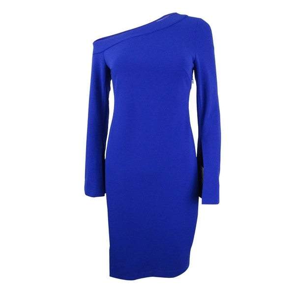 3ff6c9277e99 Shop Calvin Klein Women's One-Shoulder Dress - Free Shipping Today ...