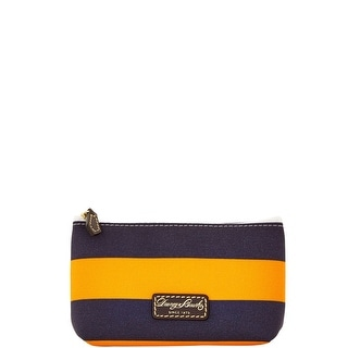 Dooney & Bourke Rugby Cosmetic Case (Introduced by Dooney & Bourke at $48 in Feb 2016) - orange navy