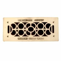 Floor Wall Heat Air Grill Vent Grate Solid Brass 4.75 x 11 |Renovator's Supply