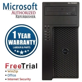 Refurbished Dell Precision T1650 Tower Intel Core I7 3770 3.4G 8G DDR3 2TB DVDRW NVS300 WIN 10 Pro 64 1 Year Warranty