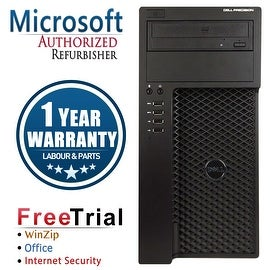 Refurbished Dell Precision T1650 Tower Intel Core I7 3770 3.4G 8G DDR3 2TB DVDRW NVS300 Win 7 Pro 64 1 Year Warranty