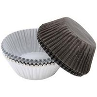 White; Black & Silver 75/Pkg - Standard Baking Cups