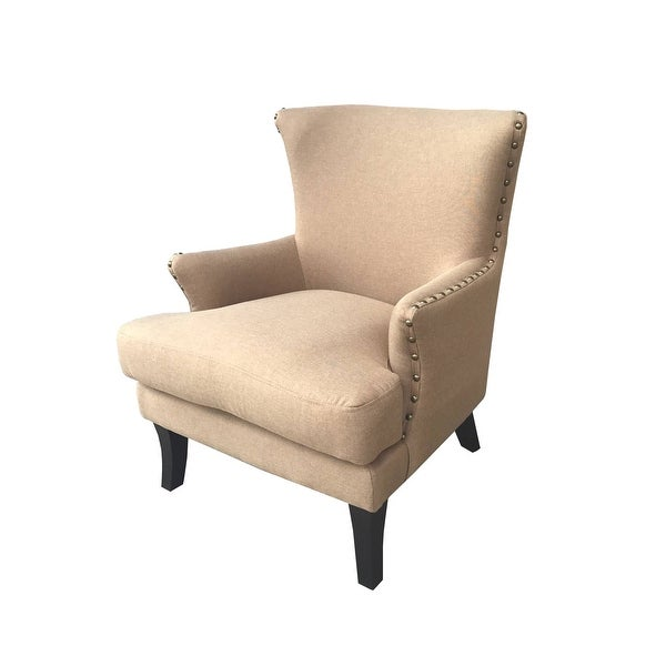 """Delacora BS-BIAC0003 Bethany 29-1/2"""" Wide Wood Framed Polyester Accent Chair"""