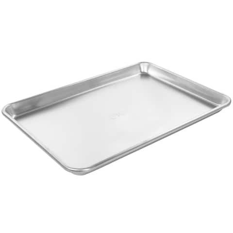 Oster 15 Inch x 10.5 Inch Baker's Glee Aluminum Cookie Sheet - Silver