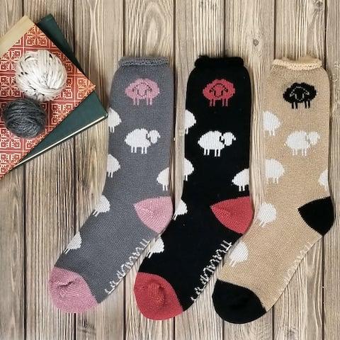 GaaHuu Womens Allover Sheep Thermal Insulated Sock