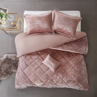 Link to Intelligent Design Isabel Velvet Duvet Cover Set Similar Items in Duvet Covers & Sets