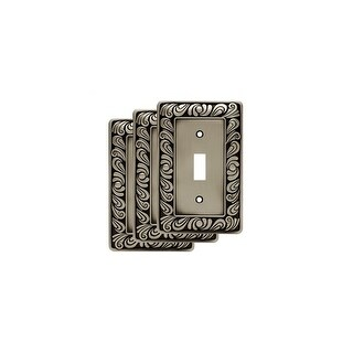 Franklin Brass W10108V-R Paisley Single Toggle Switch Wall Plate - Pack of 3 - N/A