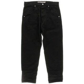 Alexander McQueen Mens Drop Rise Cuffed Cropped Jeans