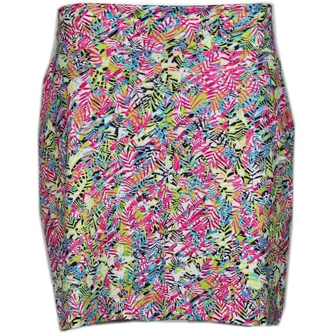 Page & Tuttle Womens Palm Print Skort Golf Casual Shorts Skort
