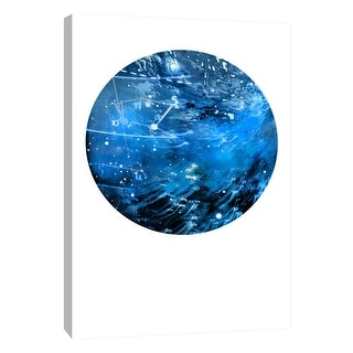"""PTM Images 9-105933  PTM Canvas Collection 10"""" x 8"""" - """"Interstellar Sphere 4"""" Giclee Celestial Art Print on Canvas"""