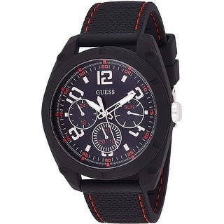 Link to Guess Men's W1256G1 Dash Black Chronograph watch With Silicone Strap - 1 Size Similar Items in Men's Watches