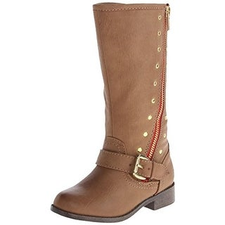 Steve Madden Tbrylee Toddler Girls Faux Leather Riding Boots - 10
