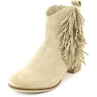 Matisse Cloey Women Round Toe Suede Ivory Ankle Boot