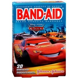 BAND-AID Bandages Disney Cars Assorted Sizes 20 Each