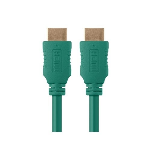 Monoprice 10 ft Select Series HDMI Cable - Green Network Cable