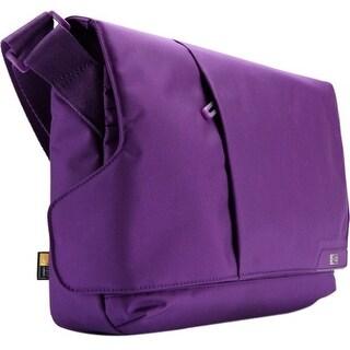 "Case Logic MLM-111GOTHAMPURPLE Case Logic MLM-111 Carrying Case (Messenger) for 11.6"" Netbook, iPad - Gotham Purple -"