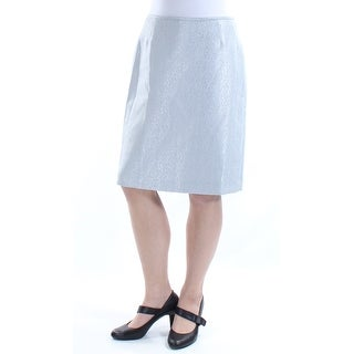Womens Silver Casual Skirt Size 10