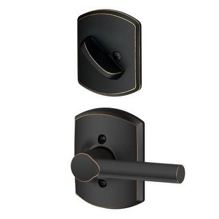 Schlage F94-BRW-GRW Broadway Dummy Interior Pack with Deadbolt Cover Plate and Decorative Greenwich Trim