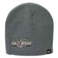 Harley-Davidson Mens Embroidered Elongated Bar & Shield Knit Beanie, KNCUS022480