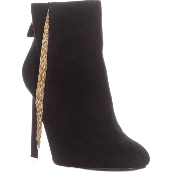 Nine West Uloveit Dress Ankle Boots, Black Suede - 5.5 us