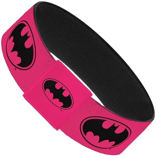 Bat Signal 3 Fuchsia Black Fuchsia Elastic Bracelet