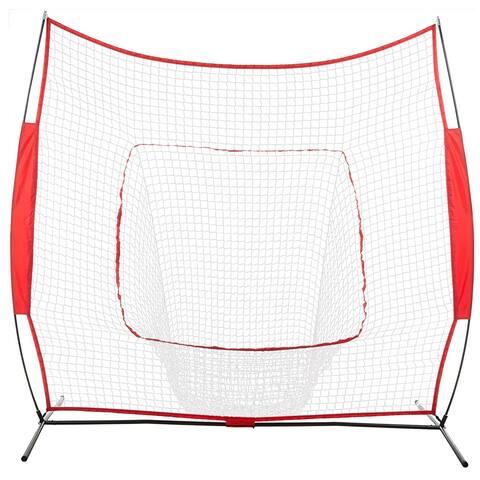 7' x 7' Portable Baseball Net Training, with Carry Bag