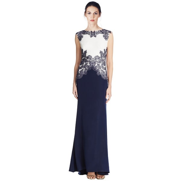 Tadashi Shoji Two-Tone Lace Evening Gown Dress - 4 - Free Shipping ...
