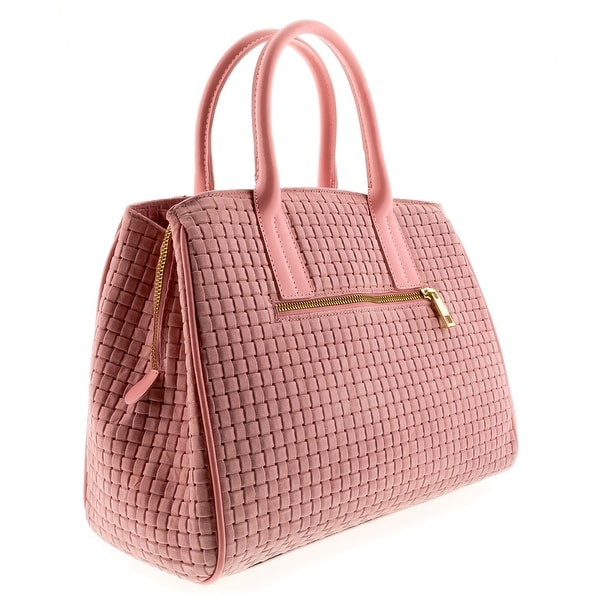 HS2076 RO SASA Pink Leather Satchel/Shoulder Bag