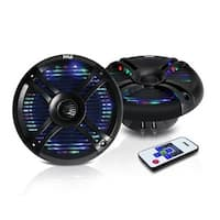 6.5 in. 650W Waterproof Audio Marine Grade Dual Speakers, Black