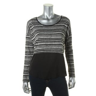 Jessica Simpson Womens Juniors Striped Long Sleeve Casual Top - XS