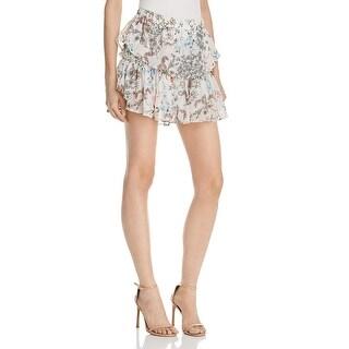 WAYF Womens Mini Skirt Chiffon Floral Print (4 options available)