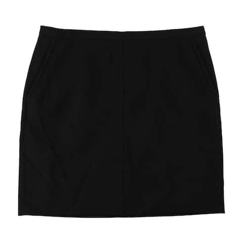 Anne Klein Womens Basic A-line Skirt, Black, 18