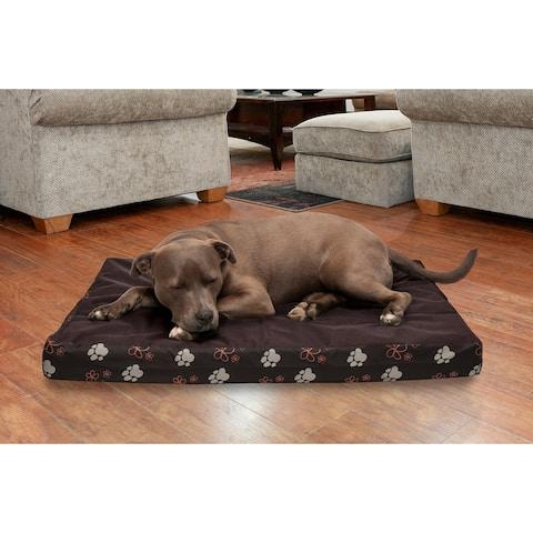 FurHaven Pet Bed Garden Indoor/Outdoor Deluxe Cooling Gel Top Pet Bed